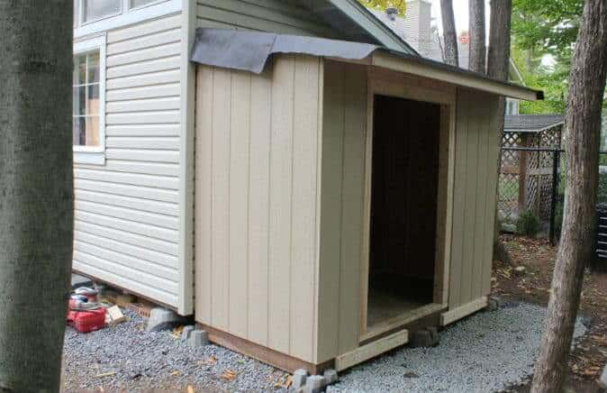 shed siding installed