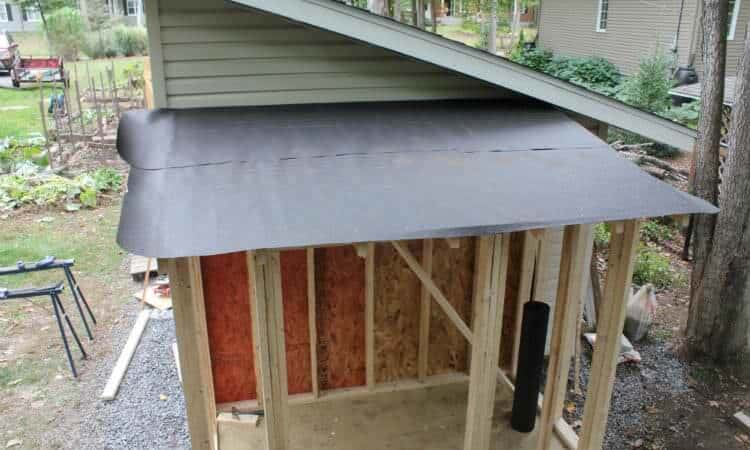tar paper installed on roof