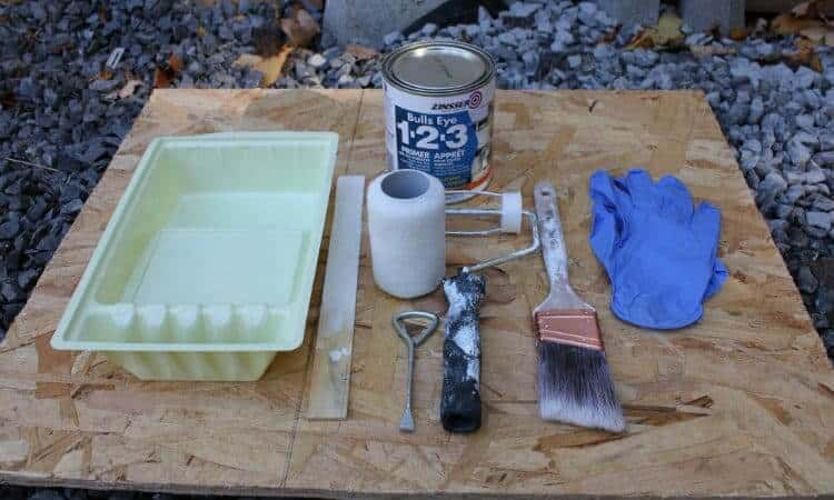 trim priming tools and materials