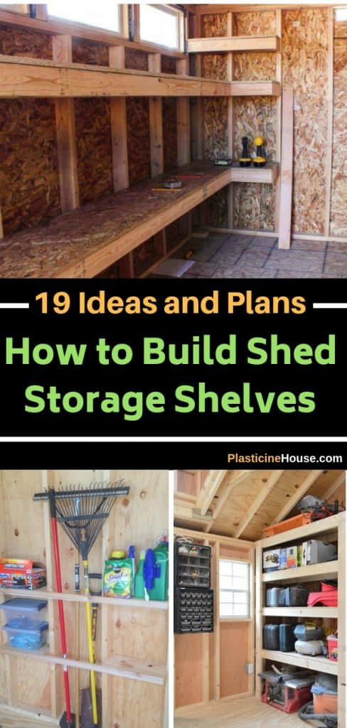 Ideas how to build storage shed shelves