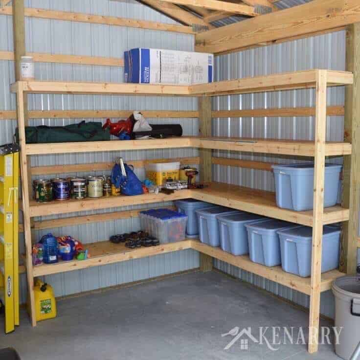 19 Ideas And Plans On How To Build Shed Storage Shelves