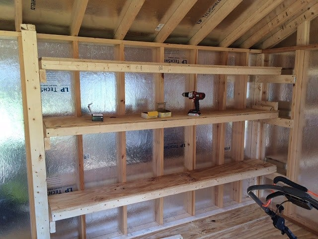 how to build shop shelves 19 ideas and plans on how to build shed storage shelves 9537