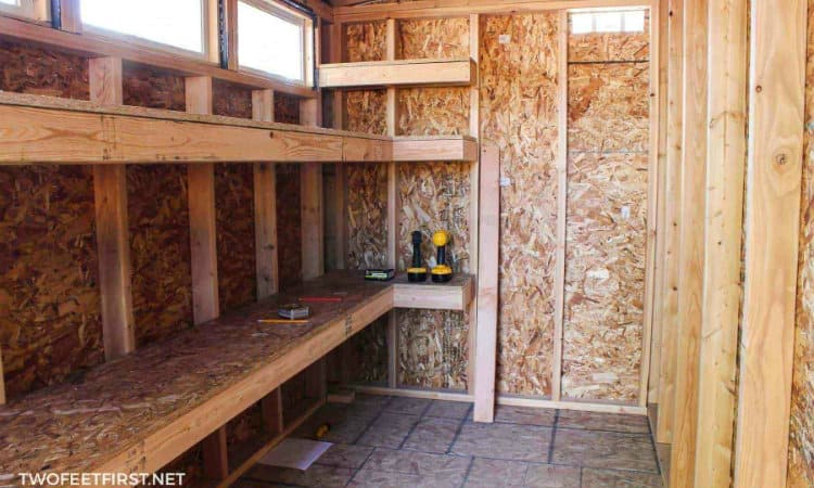 storage shed shelving ideas