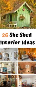 She Shed Interior Design Ideas