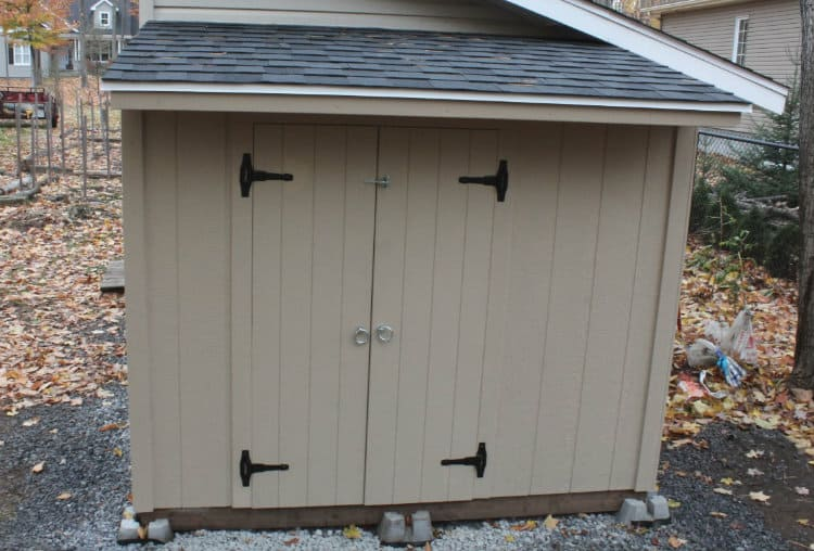 Shed double doors installed