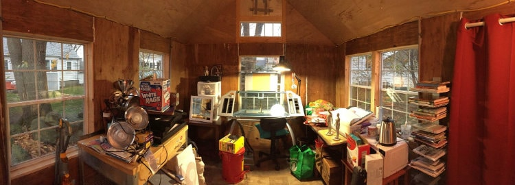 back yard office