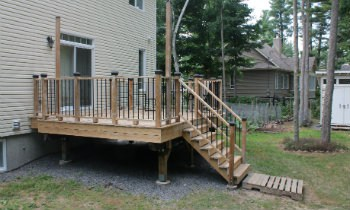 Landing Options for Deck Stairs