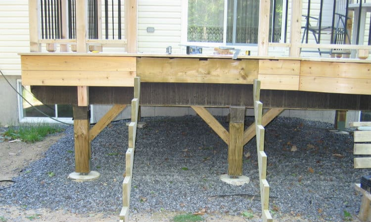 How to Brace a Deck from Swaying