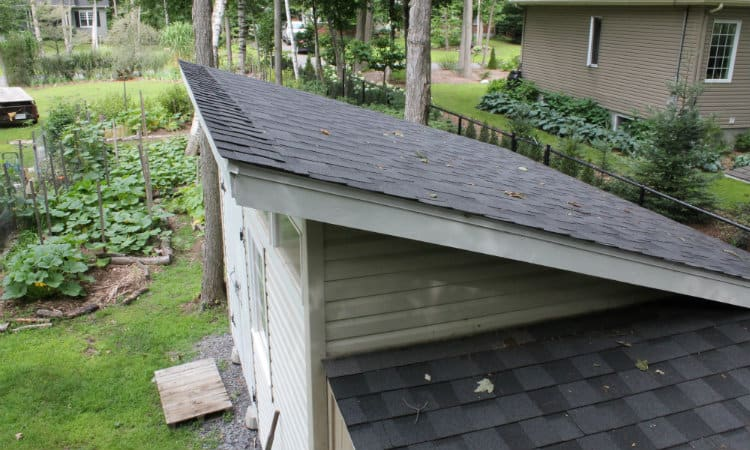 How to Finish the Top Edge of a Shed Roof