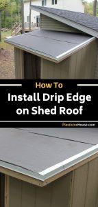 Installing drip edge