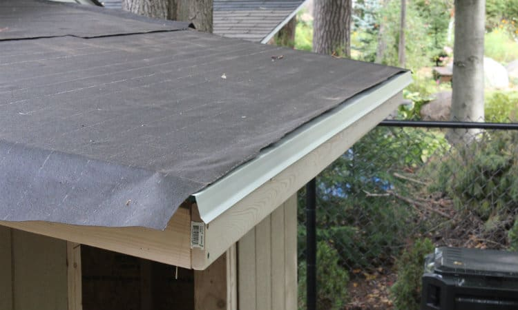 Installing roof felt