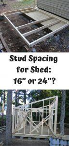 Shed Stud Spacing