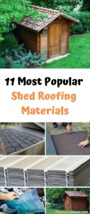Shed Roofing Materials