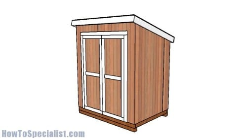 5×7 Lean to Shed Plans