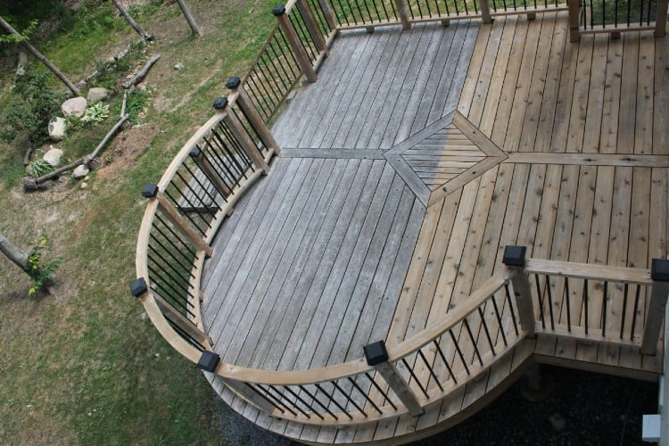 Clean Deck with Pressure Washer