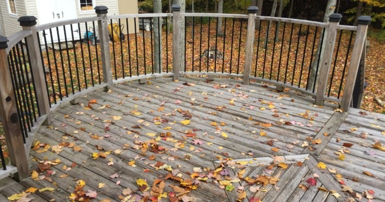 How to make outdoor wooden steps non slip