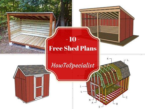 firewood storage sheds plans