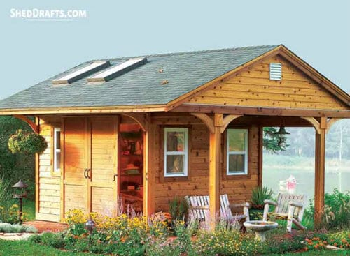10×12 Backyard Storage Shed With Porch Plans