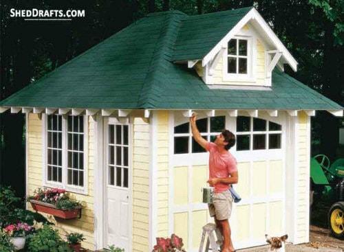 10×12 Hip Roof Storage Shed Dormer Plans