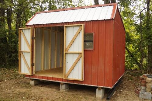 12x12 metal shed design