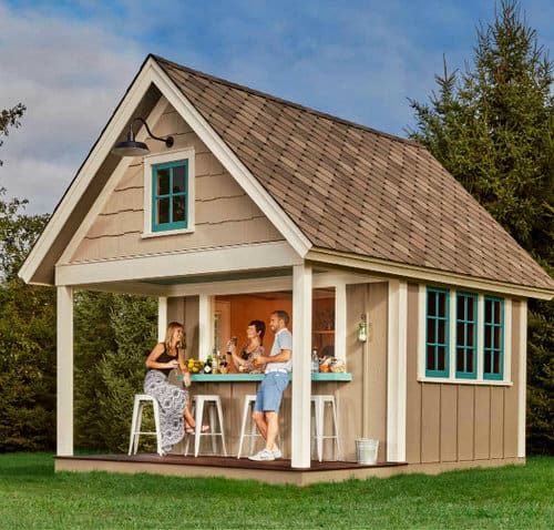 12x16 Double-Duty Pub Shed