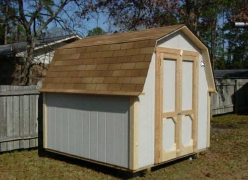 16x24 Shed with Beveled Overhang