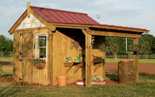 8x10 DIY Gardening Shed