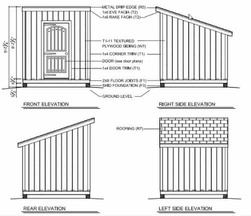 8x8 Free Storage Shed Plans