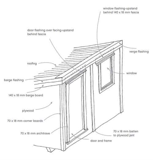 8x8 Lean-To Shed