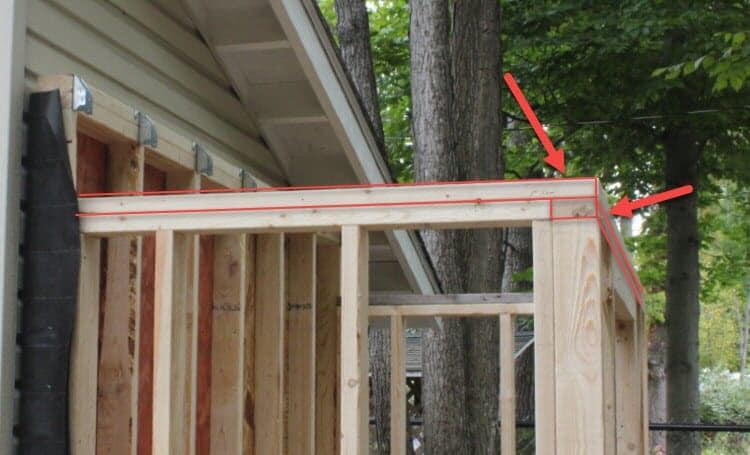 Building a shed frame