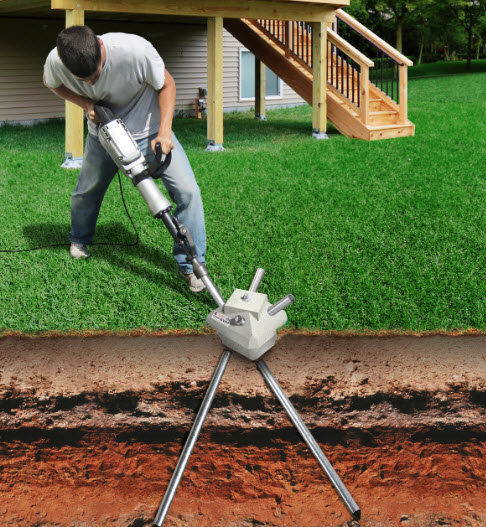 deck footings without digging