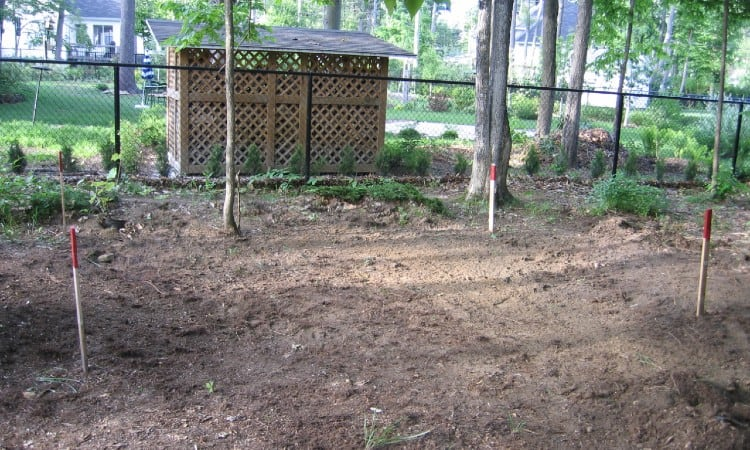 Leveling ground for shed