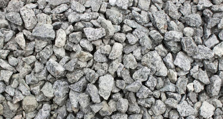 Crushed stone under deck