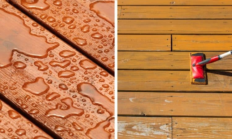 Deck stain vs sealer