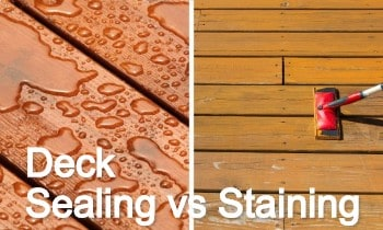 Deck Sealing Vs Staining What S The Difference