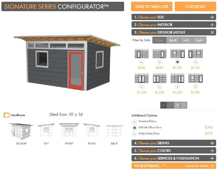 Shed design tool