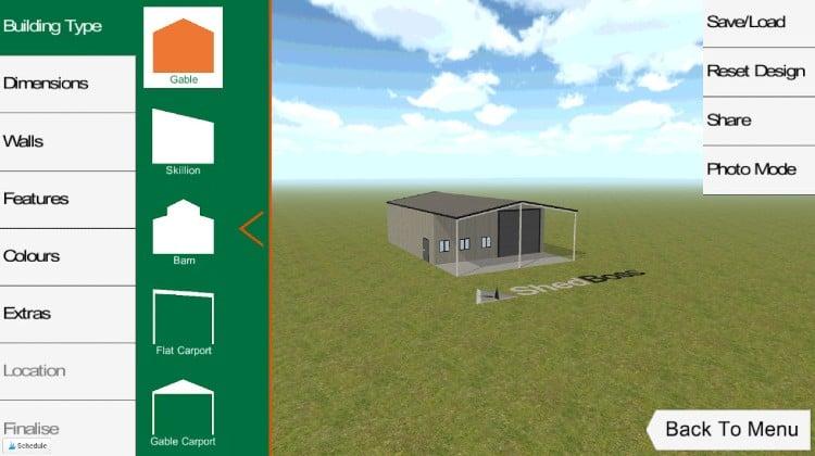 Shed designer app