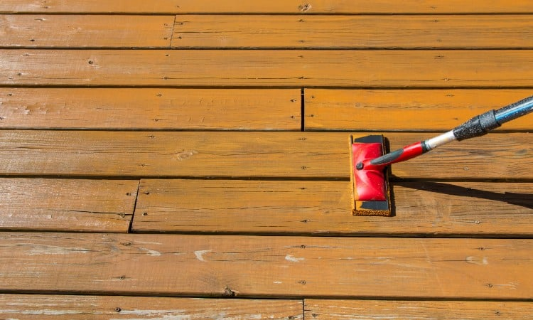 Stain or seal deck