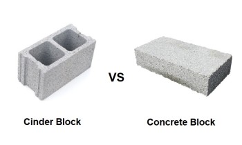 Cinder vs Concrete Block