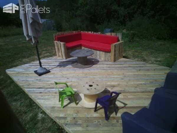 Pallet decking ideas