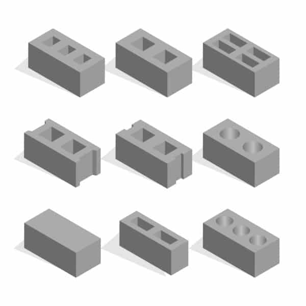 Types of cinder blocks