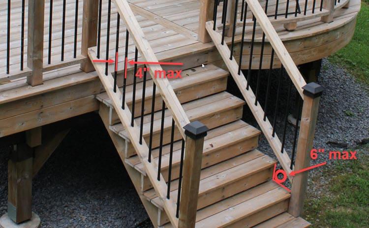 Baluster Spacing on Steps