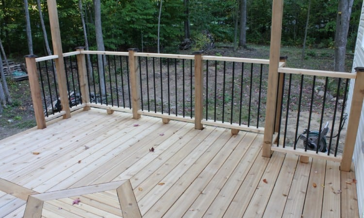 Deck Railing Post Spacing