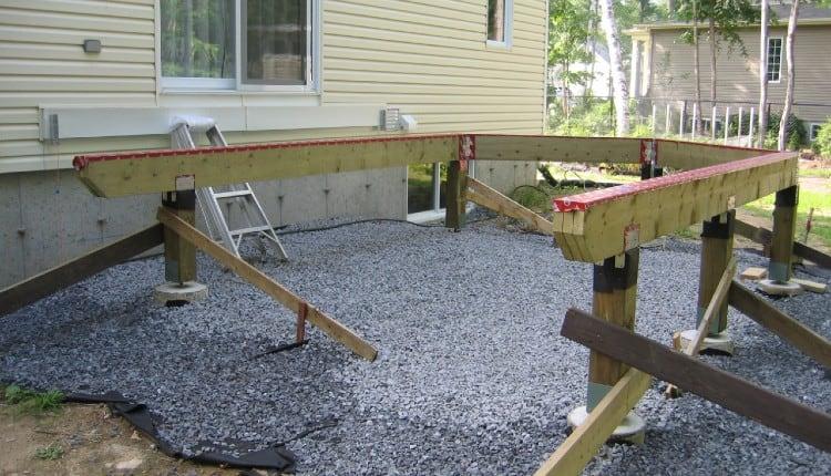 Deck fasteners posts to beams