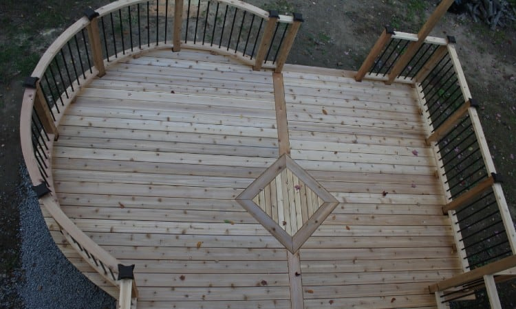 Deck rail post spacing