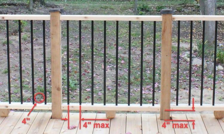 Deck spindle spacing