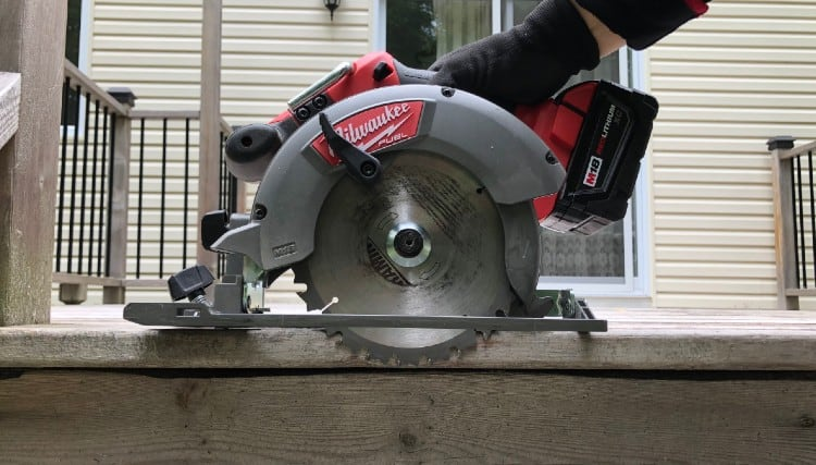 Removing decking boards