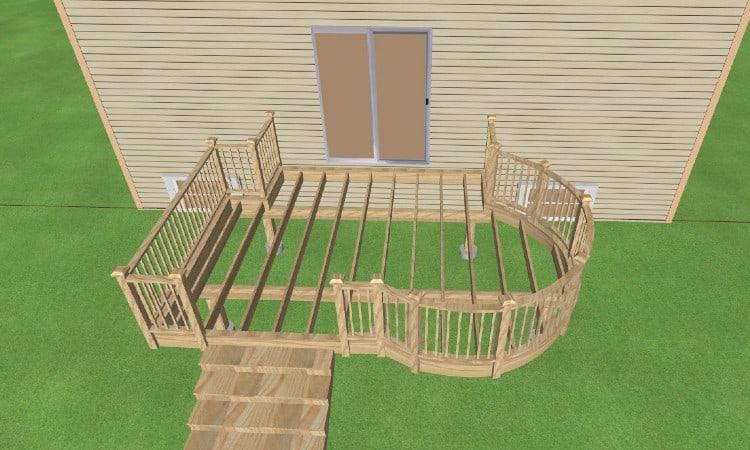 Deck rail post attachment layout