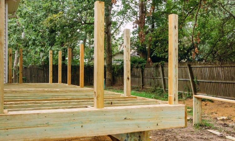 Installing deck posts