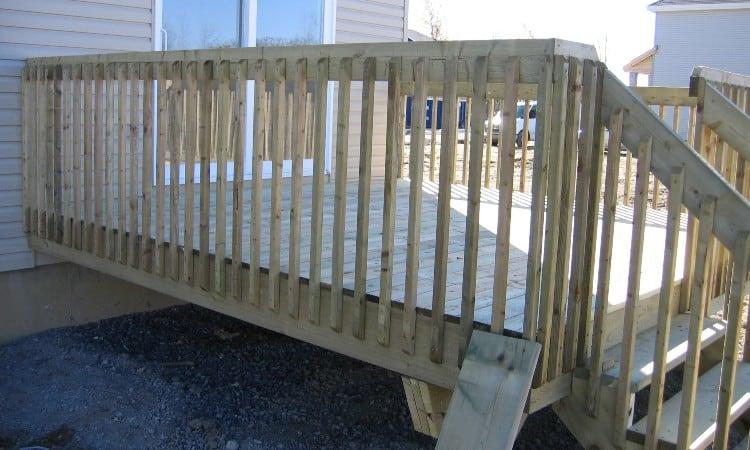 Pressure treated vs cedar deck